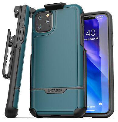 iPhone 11 Pro Max Belt Clip Holster Case Full Body Rugged Cover w/ Holder Blue