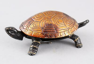 Antique German Cast Iron Tortoise Clockwork Hotel Service Counter Bell