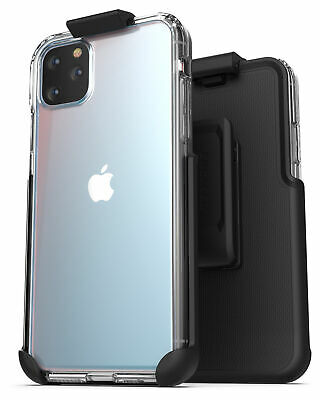 iPhone 11 Pro Belt Clip Case Ultra Slim Clear Back Cover with Holster