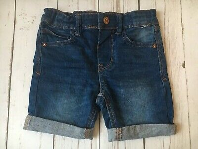 Denim & Co Boys Shorts size 2-3 years Blue Turn Up Holiday Beach Designer Kids