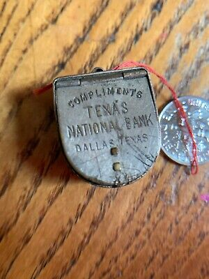 Vintage 1913 Victor M. Grab Good Luck Horseshoe Dime Bank Charm Retro Cool