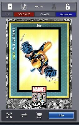 TOPPS MARVEL COLLECT Digital 80 YEARS Wave 8 Award Wolverine Uncommon