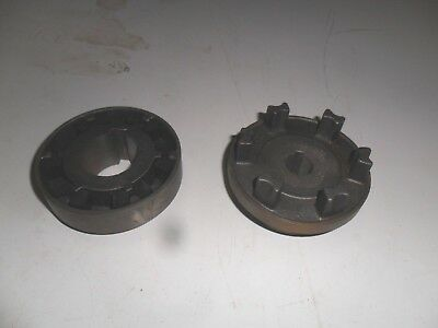 """A74)Quality New Shaft Coupling Rubber Bushed From 3/4"""" To 11/2"""" Both With Keyway"""