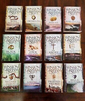 Winston Graham Poldark Series 12 Books Complete Collection PAPERBACK FREE SHIP