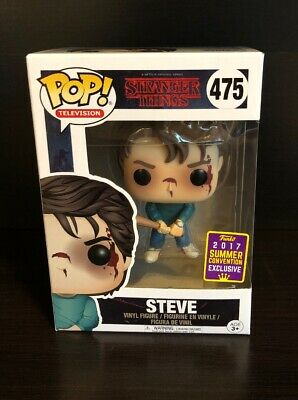 SDCC 2017 Steve with Bat #475 Stranger Things Funko Pop! Ships in Pop Protector