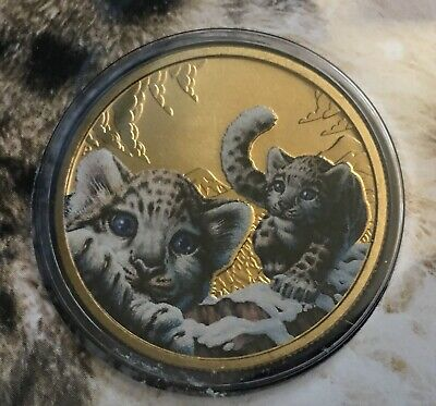 2016 $1 Endangered Wildlife Snow Leopard FDC PNC Australian $1 Coin Uncirculated