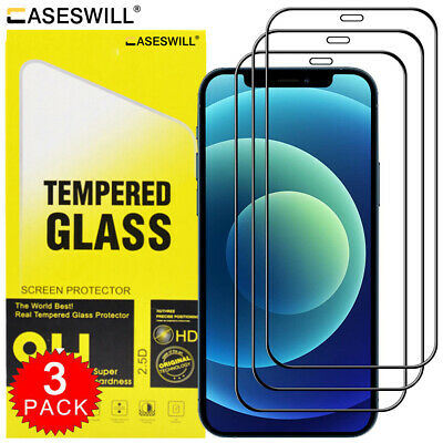For iPhone 11 Pro X XR XS Max FULL COVER 21D Tempered Glass Screen Protector