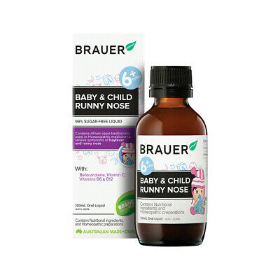* Brauer Runny Nose Oral Liquid 100mL for 6 Months to 12 Years