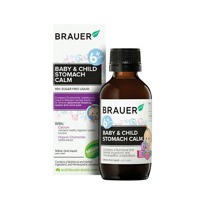 * Brauer Stomach Calm 100mL Stomach Upsets Constipation Relief