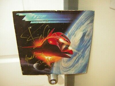 ZZ Top signed lp **Afterburner** 1986 by ****3 members of the band*****