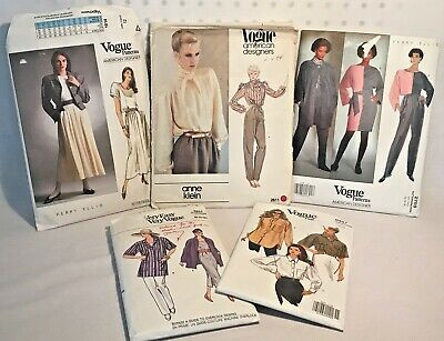 VTG Vogue Sewing Patterns Lot of 5 Women's Clothing Sz 12 Anne Klein Perry Ellis