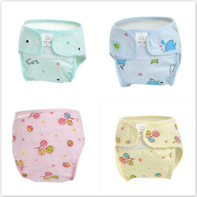 Newborn Baby Diaper Cotton Waterproof Reusable Washable Cloth Diapers Cover new