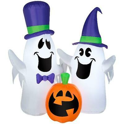 Gemmy 4 ft. Halloween Airblown Inflatable Ghosts and Pumpkin Inflatable Decor