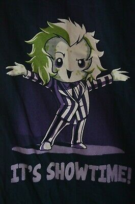 "Beetlejuice ""It's Showtime"" Short Sleeve T-Shirt Size Large"