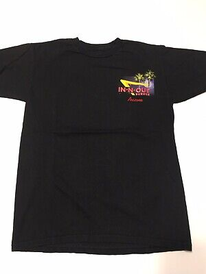 IN-N-OUT BURGER Arizona Black T Shirt Men's Small California Hot Rod Culture