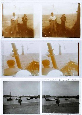 26 photos stereos circa 1920  BATEAUX  / stereoview boat