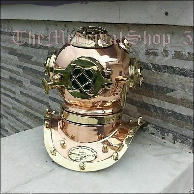 Mini U.S.Navy Solid Copper and Brass Divers Diving Helmet Vintage Reproduction