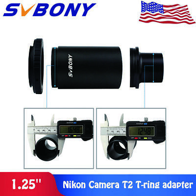 "SVBONY 1.25""CA1 Extension Tube T-Mount Adapter for Telescope T-Ring For Nikon US"