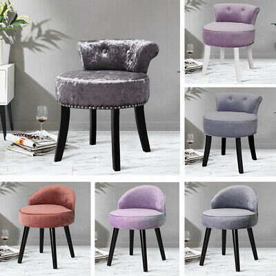 Fabric Padded Dressing Table Chair Vanity Stool Makeup Piano Seat Living Bedroom