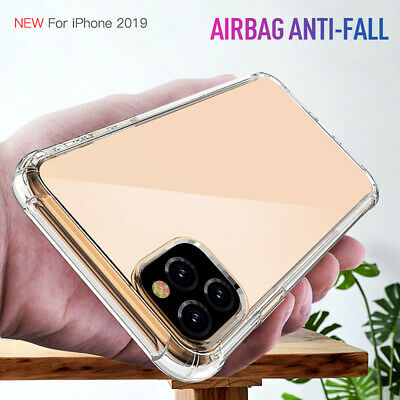 For iPhone 11 Pro Max Clear Transparent Crystal Slim Silicone Soft Case Cover US