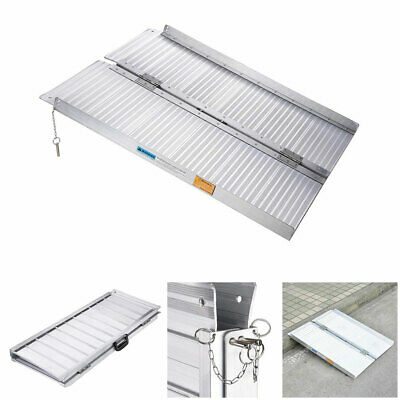 0.9m Aluminium Ramp Folding Loading Access Portable Mobility Wheelchair Scooter