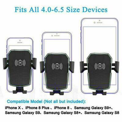 Support portable rapide QI charge voiture sans fil Ventouse FOR samsung iphone