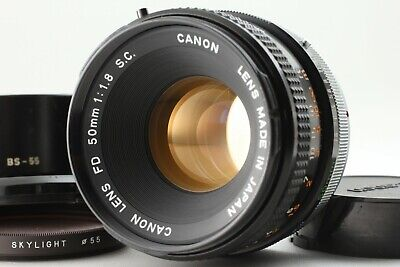 【EXC+5】Canon FD 50mm F/1.8 S.C MF Standard Lens W/ Caps from Japan #on41318