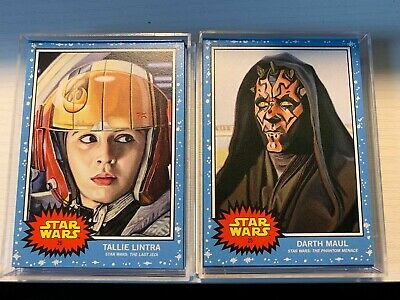 2019 Topps Star Wars Living Set Week 13 Bundle Darth Maul Tallie Lintra #25-26