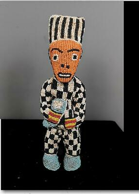 Beautiful Tribal Bamileke Beaded Figure    --  Cameroon  BN 56