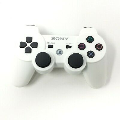 Official Sony PS3 Playstation 3 Controller White Tested OEM