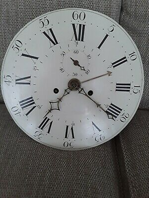 C1760  8 day LONGCASE GRANDFATHER CLOCK DIAL+movement  13 inches dial