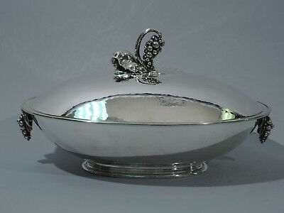 Georg Jensen Bowl - 408D - Grape Covered Centerpiece - Danish Sterling Silver