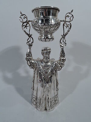 Antique Goblet - Wedding Wager Ceremonial King Cup German Sterling Silver