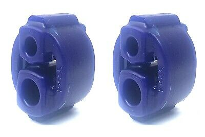 1 x Exoracing Blue Polyurethane Exhaust  hanger rubber Long universal