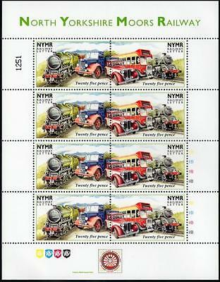 Vintage Vehicles (MG Car / Bus) NYMR Railway Letter Train Stamp Sheet/1996/MS77