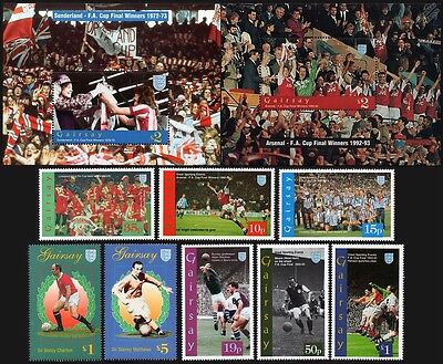 1995 GAIRSAY - FA Cup Football Stamp Set (GB Locals / Great Sporting Events)
