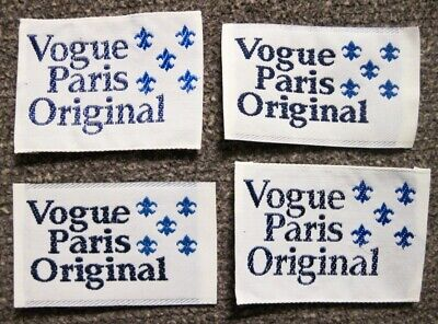 "Lot of 4 ""Vogue Paris Original"" Sew In Garment Labels"