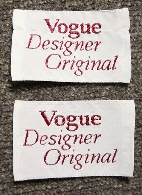 "Lot of 2 ""Vogue Designer Original"" Sew In Garment Labels"