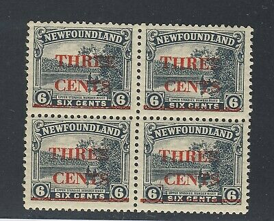 4x MNH Newfoundland #160 Block of 4  3x #160 1x 160ii C under T  GV= $136.00