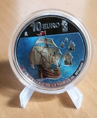 """10€ Spain 2019 Silver """"V Centenary of the round the world"""""""