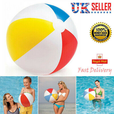 New Inflatable Blowup Panel Beach Ball Holiday Party Swimming Garden Toy Gift UK