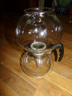 Vintage GE Double Bubble Glass Vacuum Coffee Maker Stove Top Percolator