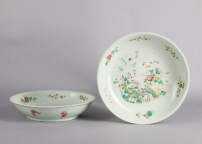 Pairs of Chinese Antique/Vintage Rose Famille Porcelain Dish
