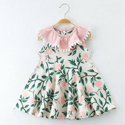 Unicorn Toddler Baby Girl Dress Sleeveless Party Casual Dresses Kids Clothes NEW