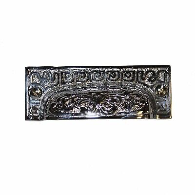 Rectangular Bin Pull Polished Chrome Antique Hardware Restoration Old Style