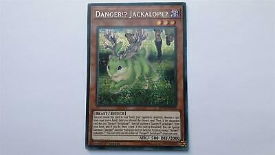 "Yugioh "" Danger!? Jackalope ?"" MP19-EN139! Prismatic Secret Rare! NM! 1. Ed"