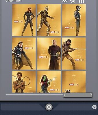Topps Marvel Collect Card Trader Studios First 10 Ten Years Gold Character Set