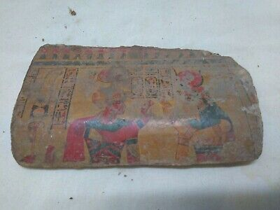 RARE ANCIENT EGYPTIAN ANTIQUE ISIS & OSIRIS Fragment 1442-1248 BC