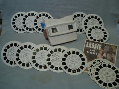 Viewer & 12 Sets LOT - 36 Reels Family Kids Viewmaster - lot A (with numbers)