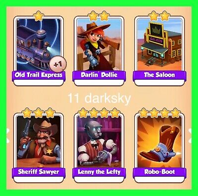 Cyber Cowboys Set 6 Cards Coin Master  ( Fastest Delivery ) Uk Seller